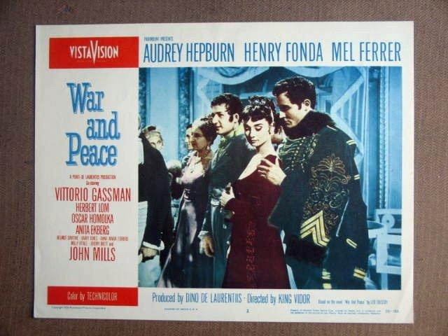 FT50 WAR AND PEACE  AUDREY HEPBURN/ VITTORIO GASSMAN Lobby card