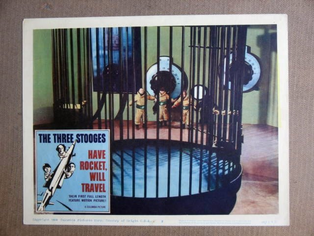 FU20 Have Rocket Will Travel THREE STOOGES Lobby Card