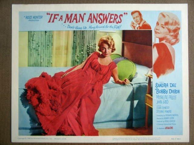 GI21 If A Man Answers SANDRA DEE/BOBBY DARIN Lobby Card