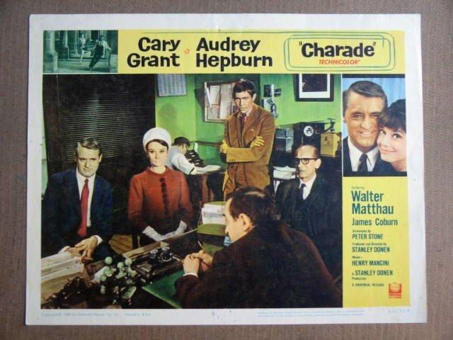FW12 Charade AUDREY HEPBURN/CARY GRANT Lobby Card