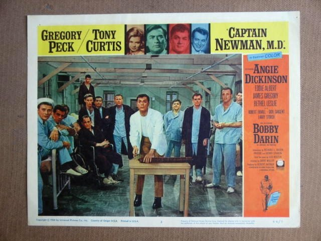FT10  CAPTAIN NEWMAN TONY CURTIS/GREGORY PECK Lobby card