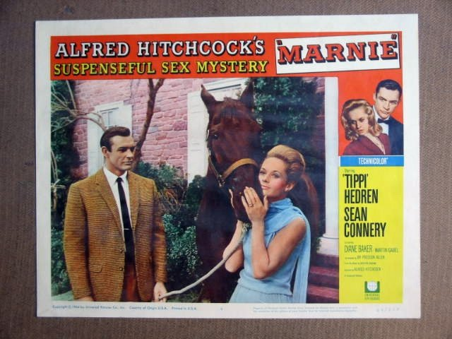 FT27 HITCHCOCK's MARNIE SEAN CONNERY/TIPPI HEDREN Lobby card