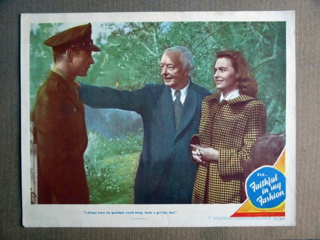 FQ17 Faithful Fashion DONNA REED/TOM DRAKE Lobby Card