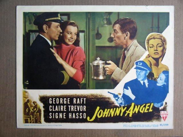 FQ25 Johnny Angel GEORGE RAFT/H CARMICHAEL Lobby Card