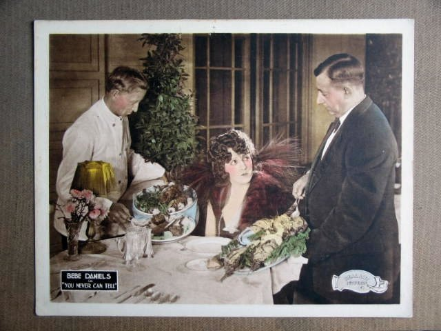FQ50 You Can Never Tell BEBE DANIELS 1920 Lobby Card