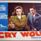 GR06 Cry Wolf ERROL FLYNN/BARBARA STANWYCK Lobby Card