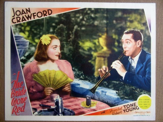 GU07 Bride Wore Red JOAN CRAWFORD/F TONE Lobby Card
