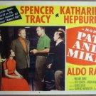 GU23 Pat & Mike KATHARINE HEPBURN/TRACY Lobby Card