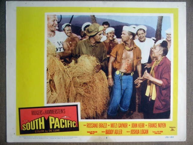 GU30 South Pacific RAY WALSTON/JUANITA HALL Lobby Card