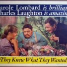 GV33 They Knew What CAROLE LOMBARD 1940  Lobby Card