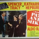 GX25 Pat & Mike KATHARINE HEPBURN/SPEN TRACY Lobby Card