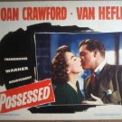 GX28 Possessed JOAN CRAWFORD/VAN HEFLIN Lobby Card