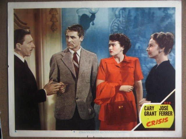 GY04 Crisis CARY GRANT/PAULA RAYMOND 1950 Lobby Card