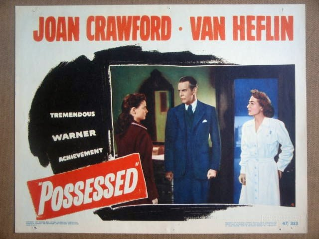 GZ12 Possessed JOAN CRAWFORD/RAYMOND MASSEY Lobby Card