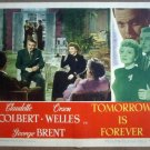 GZ27 Tomorrow Is Forever CLAUDETTE COLBERT Lobby Card