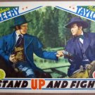 HB19 Stand Up & Fight ROBERT TAYLOR 1939 Lobby Card