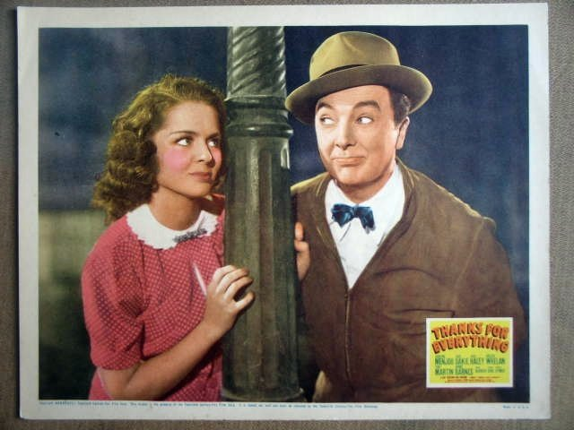 HB23 Thanks For Everything JACK HALEY 1938 Lobby Card
