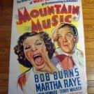 HB30 Mountain Music MARTHA RAYE One Sheet Poster