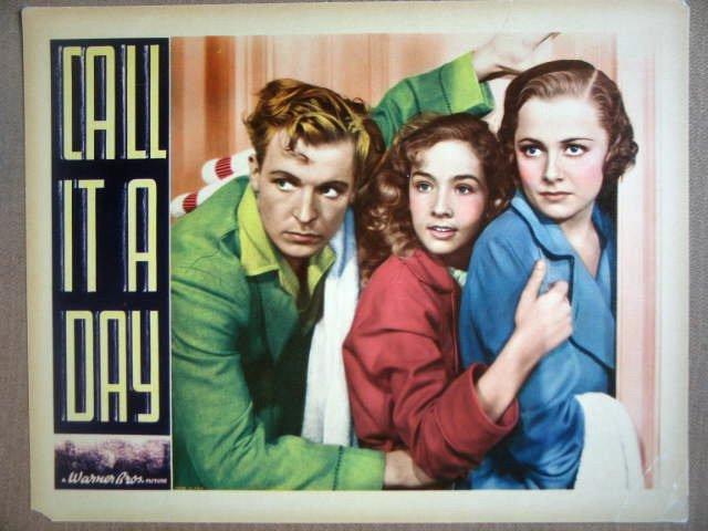 HD06 Call It A Day OLIVIA DeHAVILLAND 1937 Lobby Card