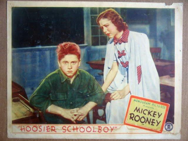 HD15 Hoosier Schoolboy MICKEY ROONEY 1937 Lobby Card