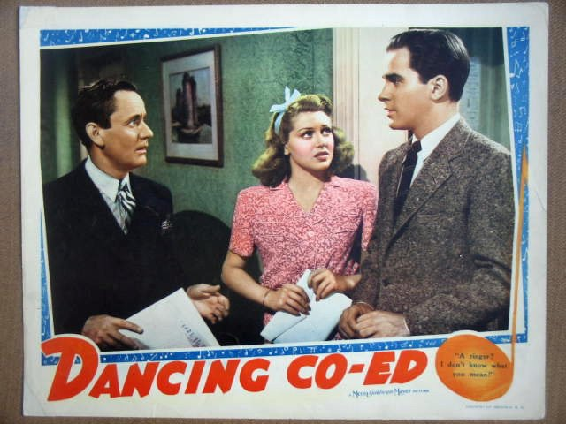 HF08 Dancing Co-Eds LANA TURNER 1939  Lobby Card