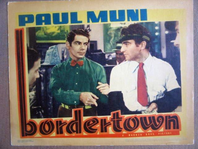 HG09 Bordertown PAUL MUNI Original 1935 Lobby Card