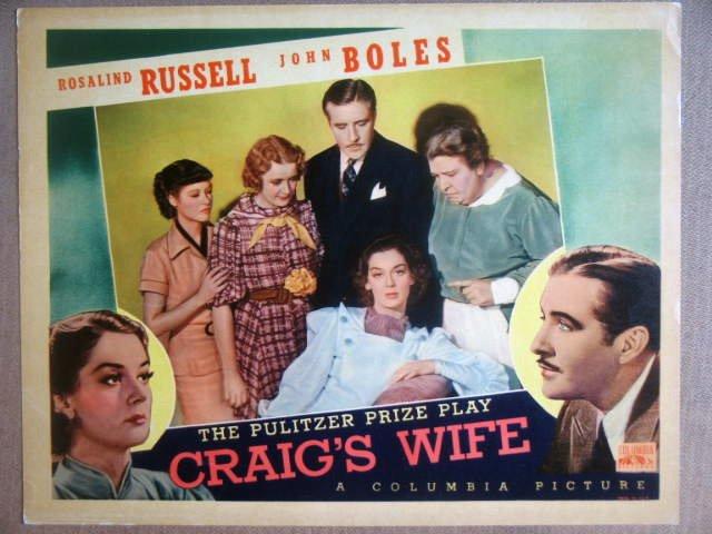HI05 Craig's Wife ROSALIND RUSSELL 1936 Lobby Card