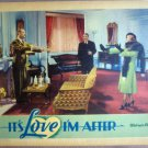 HJ14 It's Love I'm After BETTE DAVIS 1937 Lobby Card