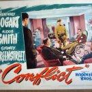HE05 Conflict HUMPHREY BOGART/S GREENSTREET Lobby Card