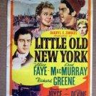 HE11 Little Old NY ALICE FAYE 1940 Midget Window Card