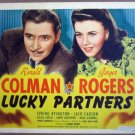 HE13 Lucky Partners GINGER ROGERS 1940 Title Lobby Card