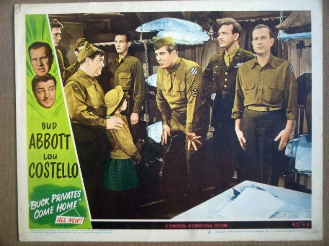 HF04 Buck Pvts Come Home ABBOTT & COSTELLO Lobby Card