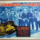 HG29 Stardust On The Sage GENE AUTRY Title Lobby Card