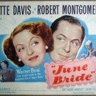 HK10 June Bride BETTE DAVIS/MONTGOMERY Title Lobby Card
