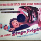 HG28 Stage Fright MARLENE DIETRICH Title Lobby Card