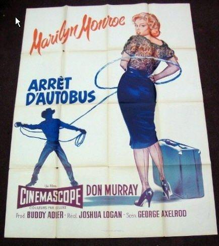 HI02 Bus Stop MARILYN MONROE French Grande Poster