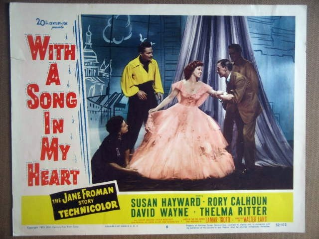 HM34 With A Song In My Heart SUSAN HAYWARD Lobby Card