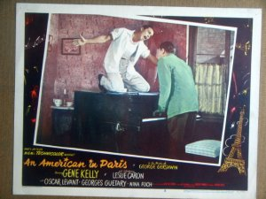 HPO1 American In Paris GENE KELLY/O LEVANT Lobby Card