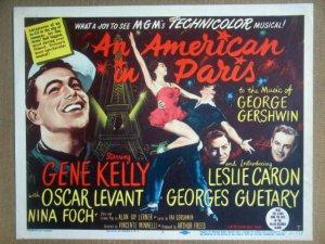 HT02 American In Paris GENE KELLY/LESLIE CARON Title Lobby Card