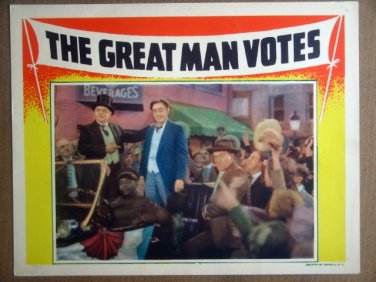 HP15 Great Man Votes JOHN BARRYMORE 1939 Lobby Card
