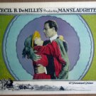 HP21 Cecil B. DeMilles Manslaughter 1922 Lobby Card