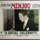 HP25 Social Celebrity ADOLPHE MENJOU 1926 Lobby Card