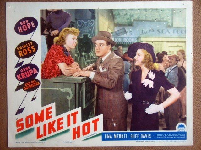 HP26 Some Like It Hot BOB HOPE/UNA MERKEL Lobby Card