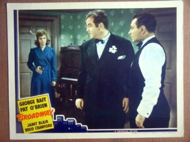 HQ03 Broadway GEORGE RAFT/JANET BLAIR Lobby Card