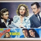 HS06 Falcon In Danger TOM CONWAY Portrait Lobby Card