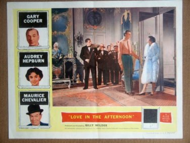 HS12 Love In The Afternoon AUDREY HEPBURN Lobby Card