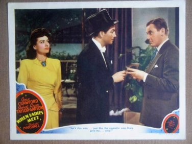 HS30 Where Ladies Meet JOAN CRAWFORD 1941 Lobby Card