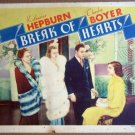 HT05 Break Of Hearts KATHARINE HEPBURN/CHARLES BOYER 1935 Lobby Card