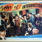 HT14  Letter Of Introduction EDGAR BERGEN/CHARLIE McCARTHY Lobby Card
