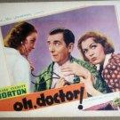 HT17 Oh, Doctor EVE ARDEN/EDWARD EVERETT HORTON Lobby Card